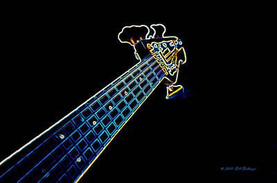Bass Guitar Art Print by Bill