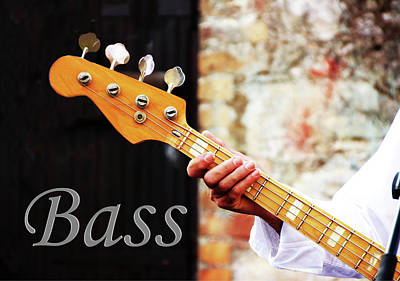 Photograph - Bass Guitar  by Tom Conway