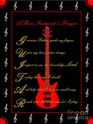 Bass Guitar_2 Art Print by Joe Greenidge