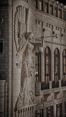 Fine Art Relief Photograph - Bass Hall Angelic Herald by Stephen Stookey