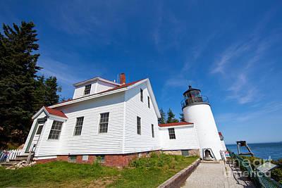 Bass Harbor Head Lighthouse Photograph - Bass Harbor Head Light Maine by Wayne Moran