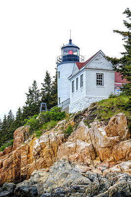 Photograph - Bass Harbor Head Lighthouse 1 by John McArthur