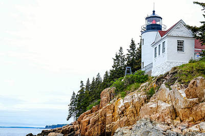 Photograph - Bass Harbor Head Lighthouse 2 by John McArthur