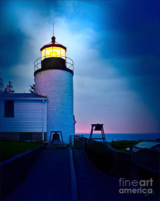 Linda King Photograph - Bass Harbor Head Lighthouse 3085 by Linda King