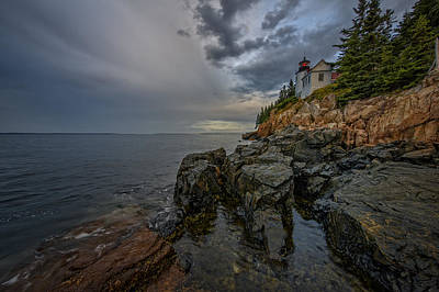 Down East Maine Photograph - Bass Harbor Head Lighthouse At Dawn by Rick Berk