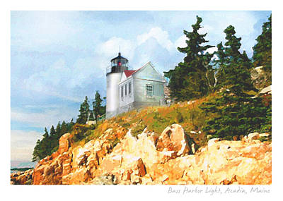 Maine Lighthouses Painting - Bass Harbor Light by Ernestine Grindal