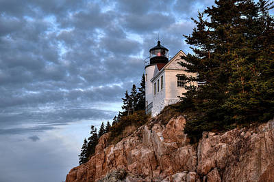Photograph - Bass Harbor Light No. 2 - Acadia - Maine by Geoffrey Coelho