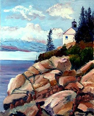 Painting - Bass Harbor Lighthouse by Jack Riddle
