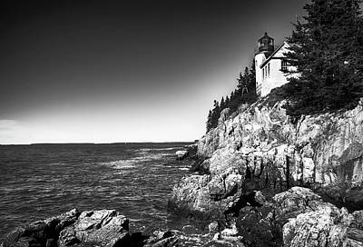 Photograph - Bass Harbor Head Lighthouse by Mick Burkey