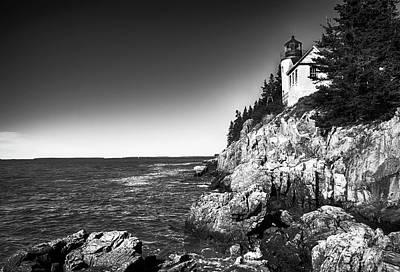 Photograph - Bass Harbor Head Lighthouse by Mick Burkey