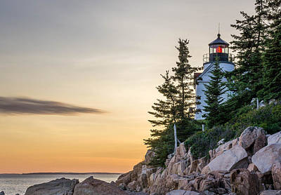 Bass Harbor Lighthouse Susnet  Art Print