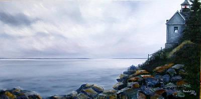 Maine Seacoast Painting - Bass Harbor Maine by Brenda Ellis Sauro