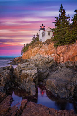 Atlantic Ocean Photograph - Bass Harbor Sunrise by Darren White
