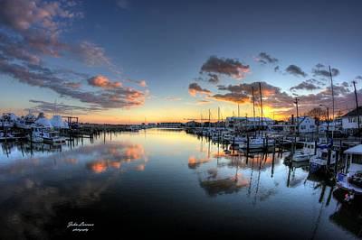 Photograph - Bass Harbor Sunset by John Loreaux