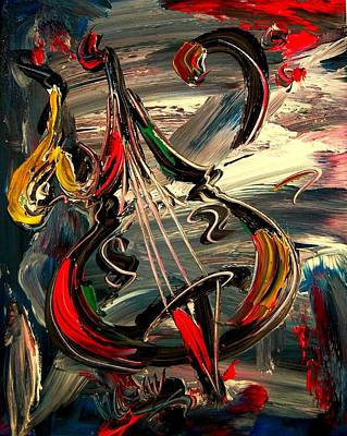 Bass Jazz Art Print by Mark Kazav