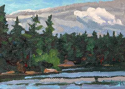 Painting - Bass Lake Afternoon by Phil Chadwick