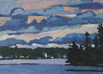 Painting - Bass Lake Cottage Shore by Phil Chadwick