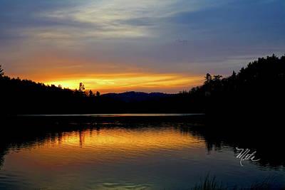 Photograph - Bass Lake Sunrise by Meta Gatschenberger