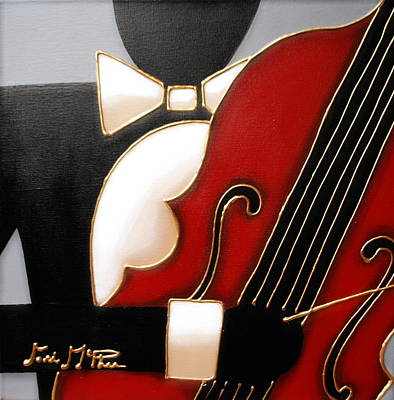 All That Jazz Painting - Bass by Lori McPhee