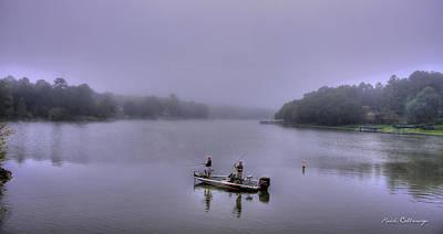 Bass Masters Lake Oconee Fishing Art Art Print by Reid Callaway