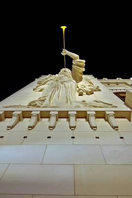 Photograph - Bass Performance Hall Angel by Linda Unger