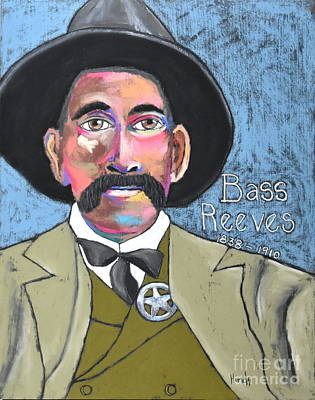 Outsider Art Pastel - Bass Reeves by David Hinds