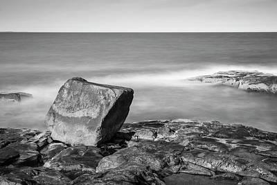 Photograph - Bass Rocks Gloucester Ma I Bw by David Gordon