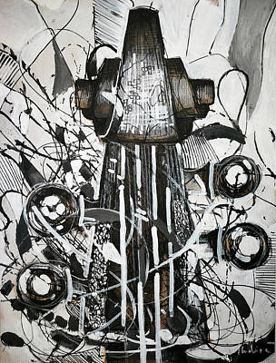 Figurativ Drawing - Bass Tuners by Indira Jaranovic