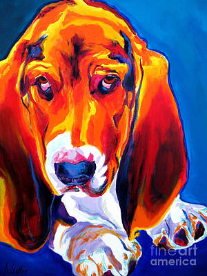 Basset Painting - Basset - Ears by Alicia VanNoy Call