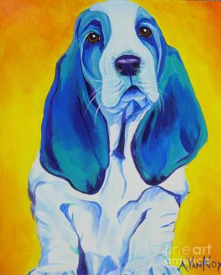Dawgart Painting - Basset - Ol' Blue by Alicia VanNoy Call