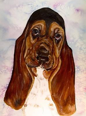 Pet Painting - Basset Beauty by Carol Blackhurst