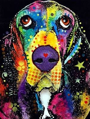 Soulful Painting - Basset Ebay by Dean Russo