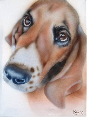 Painting - Basset Hound by Bas Hollander
