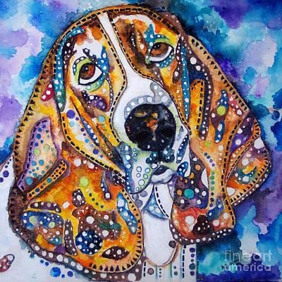 Basset Hound Bingo Art Print by Angela Green