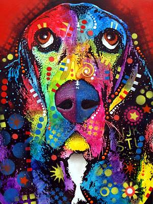 Dog Art Painting - Basset Hound by Dean Russo