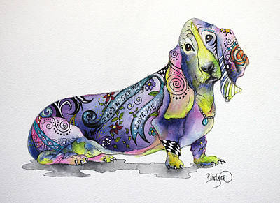 Basset Hound Horace Art Print by Patricia Lintner