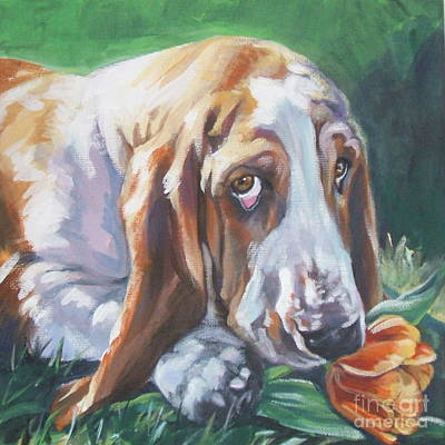 Basset Hounds Painting - Basset Hound by Lee Ann Shepard