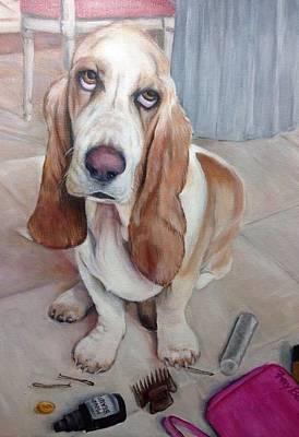 Painting - Bassett Hound Attitude by FayBecca Designs