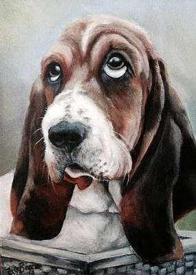 Painting - Bassett. Hound by FayBecca Designs