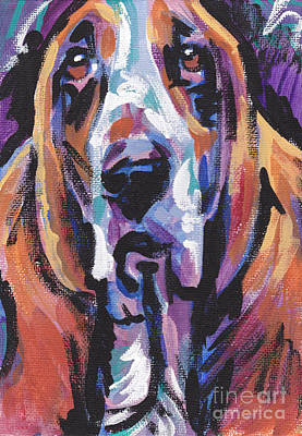Basset Painting - Bassi Net by Lea S