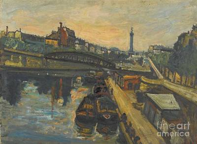 Bassin Painting - Bassin De L'arsenal by Celestial Images