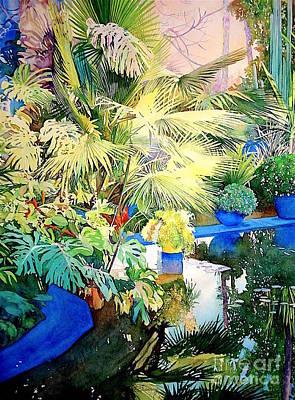 Bassin Painting - Bassin - Jardin Majorelle - Marrakech - Maroc by Francoise Chauray