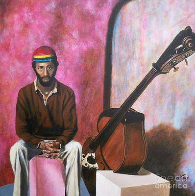 Painting - Blaa Kattproduksjoner            Bassist Ron Carter- The Legend by Sigrid Tune
