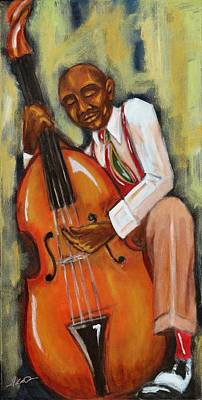 Painting - Bassman by Daryl Price
