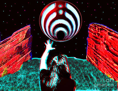 Recently Sold - Surrealism Digital Art - Bassnectar Red Rocks 15 Tribute by Andrew Kaupe