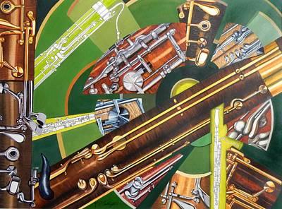 Bassoon Painting - Bassoon by Katharine Cartwright