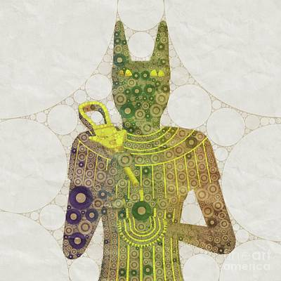 Holy Digital Art - Bastet, Goddess Of Egypt, Pop Art By Mb by Mary Bassett