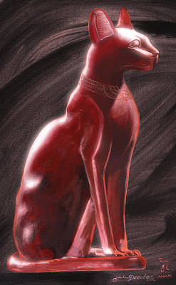 Painting - Bastet by John Deecken