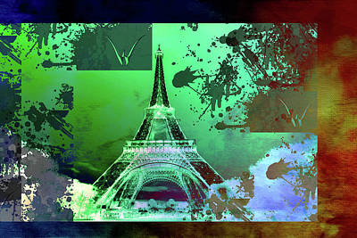 Eiffel Tower Mixed Media - Bastille Day 11 by Priscilla Huber