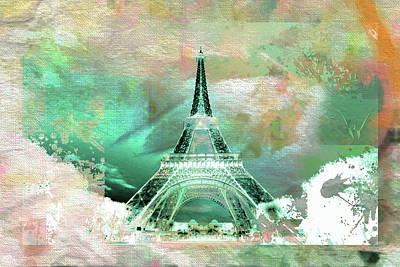 Eiffel Tower Mixed Media - Bastille Day 2 by Priscilla Huber